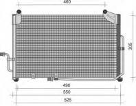 8FC 351 303-141 HELLA Condenser  air conditioning