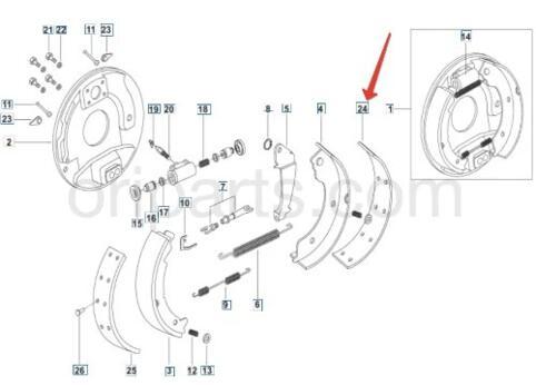Kit Lining Set Brake Shoe Std Mahindra 0602ba3630n Compatibility