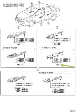 TOYOTA Genuine 74231-12050-J0 Armrest Base Panel
