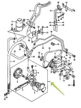 Pump Assy Power Steering Suzuki Maruti 4911060e00 Compatibility
