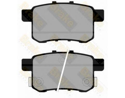 Set of 4 Brembo P28072 Rear Disc Brake Pad