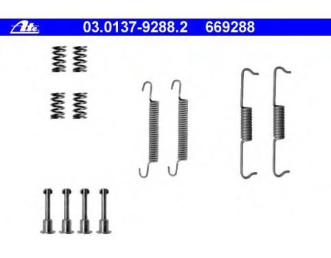 MBA841 MINTEX Accessory Kit parking brake shoes rear