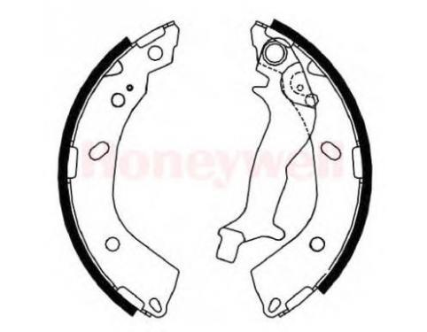 Genuine Hyundai 58350-3XA00 Brake Shoe and Lining Kit Rear