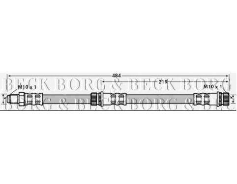 Borg /& Beck BBH7114 Brake Hose