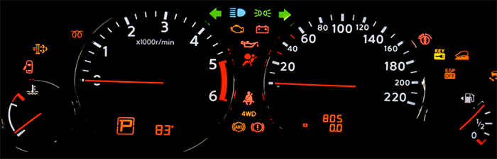 Old Car Warning Lights